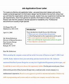 Professional Job Application Cover Letter Free 7 Sample Professional Cover Letter Templates In Pdf