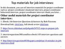 Project Coordinator Sample Interview Questions Top 36 Project Coordinator Interview Questions And Answers