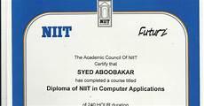 Niit Certificate Format Pdf Gniitsolution Niit Diploma Certificate