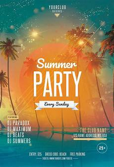 Beach Party Flyer Template Free Beach Party 2 Free Psd Flyer Template Free Psd Flyer