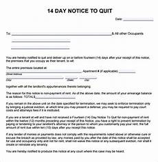 Tenant Notice To Quit Template Free 9 Notice To Quit Samples In Google Docs Ms Word