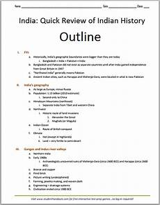Overview History Of India Outline Free To Print Pdf File