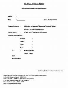 Medical Certificate For College Admission Medical Fitness Form Fill Online Printable Fillable