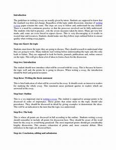 Example Of An Introduction In An Essay How To Write An Essay