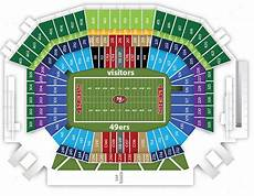49ers Seating Chart San Francisco 49ers Seating Chart Levi S Stadium