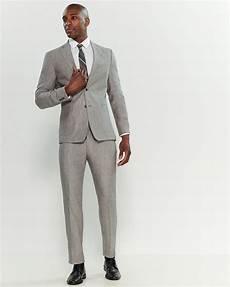 Light Grey Linen Suit Michael Kors Two Piece Light Grey Linen Suit In Gray For