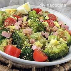 Ensalada De Brocoli Y Coliflor Light Ensalada De Br 243 Jam 243 N Y Queso Divina Cocina