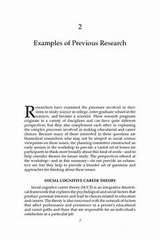 Examples Of A Research Essay 2 Examples Of Previous Research Understanding