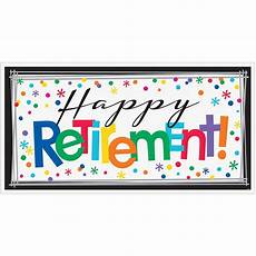 Retirement Banners Happy Retirement Celebration Banner 65in X 33 1 2in