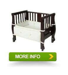 arms reach cosleeper bassinet sleigh bed expresso pairedpuls