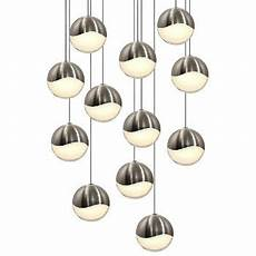 Multipoint Pendant Lighting Grapes Led 12 Light Round Multipoint Pendant By Sonneman