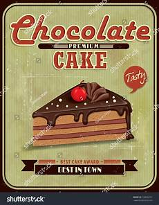 Cake Poster Design Vintage Chocolate Cake Poster Design Stock Vector