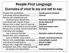 People First Language Chart 1000 Images About Person First Terminology On Pinterest