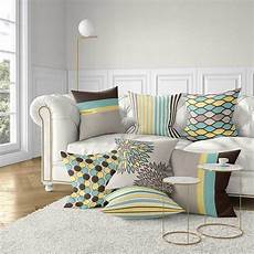 Sofa Pillows Decorative Sets Brown 3d Image by Sofa Pillow Covers Decorative Pillows Mint Green Yellow
