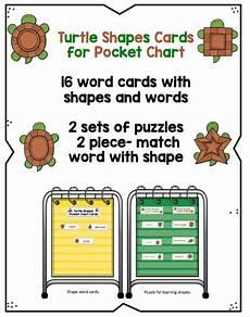 Pocket Chart Cards Turtle Shape Cards For Pocket Chart Fun Preschool