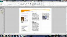 How To Find A Publisher Creating A Basic 3 Panel Brochure On Publisher Youtube