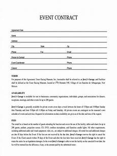 Event Planner Agreement Free 8 Event Agreement Forms In Sample Example Format