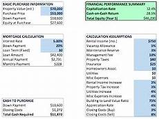 Investment Property Spreadsheet Investment Property Calculator Excel Spreadsheet Download