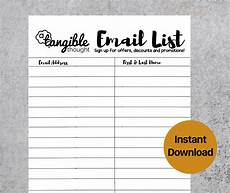 Email List Signup Sheet Email Sign Up Template Emmamcintyrephotography Com