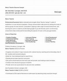 Music Teacher Resume Sample Teacher Resume 9 Free Sample Example Format Free