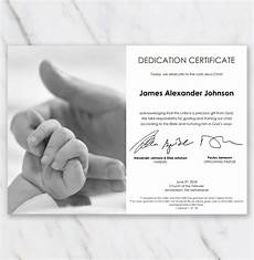 Baby Presentation Certificates Modern Looking Baby Dedication Certificate With Picture