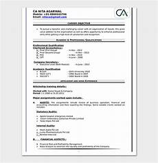 Fresher Accountant Resume Sample Fresher Resume Template 50 Free Samples Amp Examples