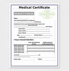 Medical Certificate Templates Medical Certificate From Doctor Template 17 Free