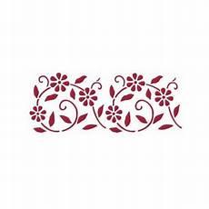 stencil fiori stilizzati ksb102 stencil b cm 38x15 fiori stilizzati