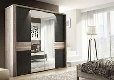 mocha sliding 2 door mirrored wardrobe cupboard black and