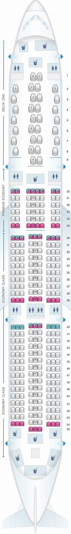 Airbus A350 900 Seating Chart Seat Map Delta Air Lines Airbus A350 900 Seatmaestro