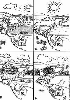 four seasons coloring page printable coloring pages