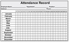 Attendance Sheets Printable Daily Monthly Employee Attendance Sheet Template Free