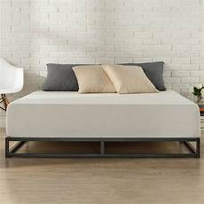modern low profile platform bed sturdy no box steel