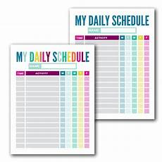 Free Daily Schedule Free Kid S Daily Schedule Template The Incremental Mama