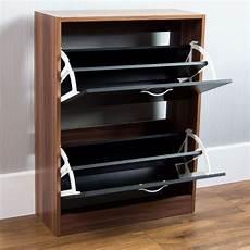 Vida Designs 2 Drawer Shoe Cabinet Cupboard Shoe Storage vida designs walnut and black 2 drawer shoe cabinet wilko