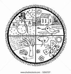 Vier Jahreszeiten Malvorlagen Coloring Pages Seasons Search