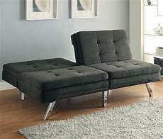 300213 charcoal microfiber split back tufted sofa bed from