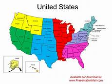 Us Map Template Powerpoint Editable United States Powerpoint Map