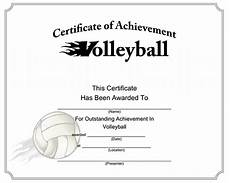 Volleyball Certificate Templates Printable Sports Certificates Sampleprintable Com