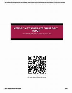 Metric Flat Washer Size Chart Bolt Depot By Letsmail979