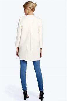 womens collarless coats boohoo womens collarless sleeve button duster