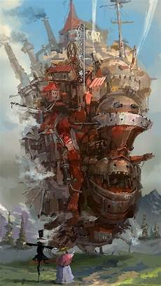 ghibli wallpaper iphone howl s moving castle studio ghibli fanart iphone