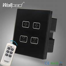 Touch Control Led Lights Aliexpress Com Buy 4 Gang Remote Dimmer Wallpad Black