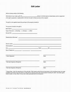 Gift Certificate Letter Template Gift Certificate Template Mortgage