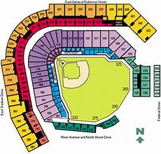 Pnc Park Seating Chart Detailed Pnc Park Seating Chart Amp Game Information