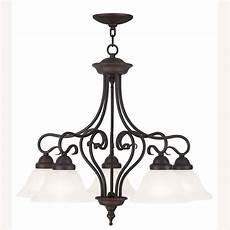 Livex Lighting Chandelier Livex Lighting Coronado 5 Light Bronze Chandelier With