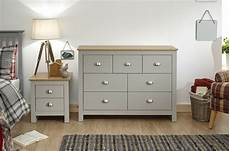 chest of drawers grey oak 7 drawer sideboard two tone