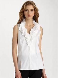 lyst lafayette 148 new york tessa stretch cotton