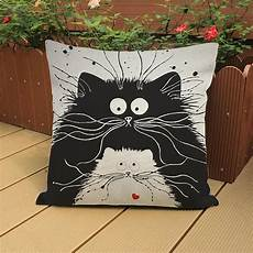 decorative home decor black cats cushions covers