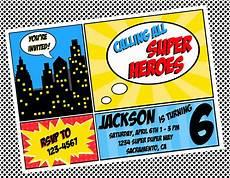 Printable Superhero Invitations Superhero Invitation Template Superhero Invitations